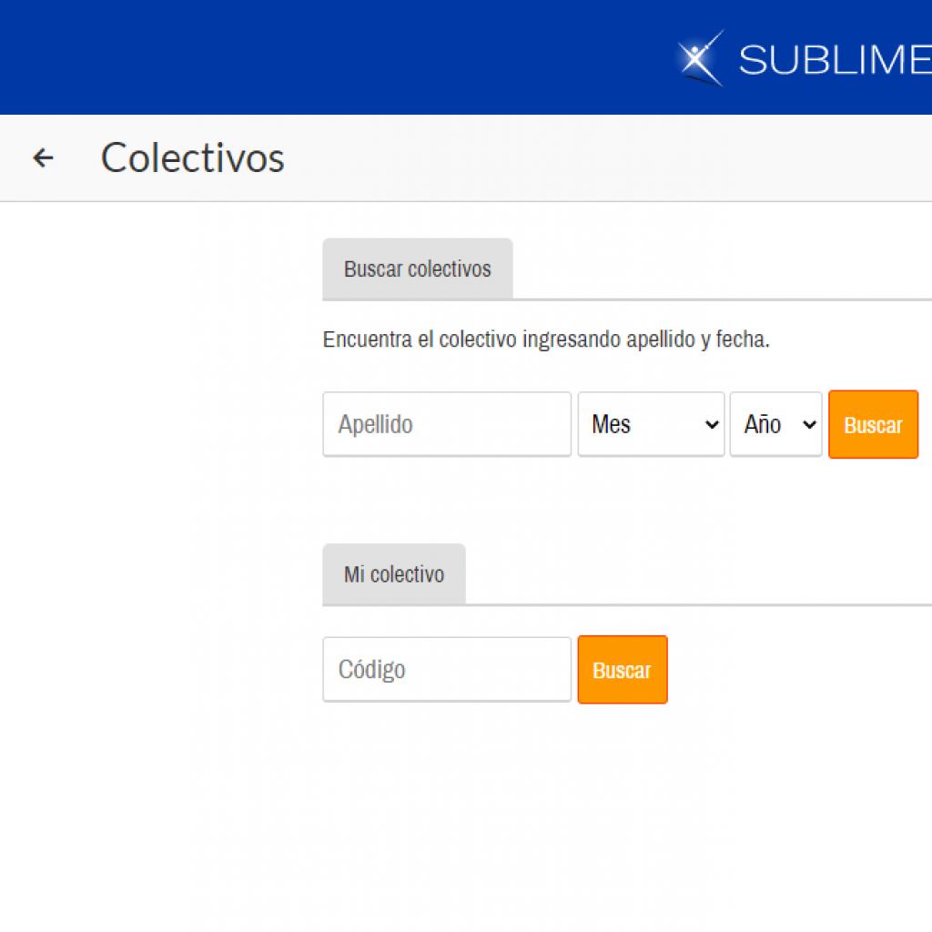 Buscador de colectivos para el usuario.