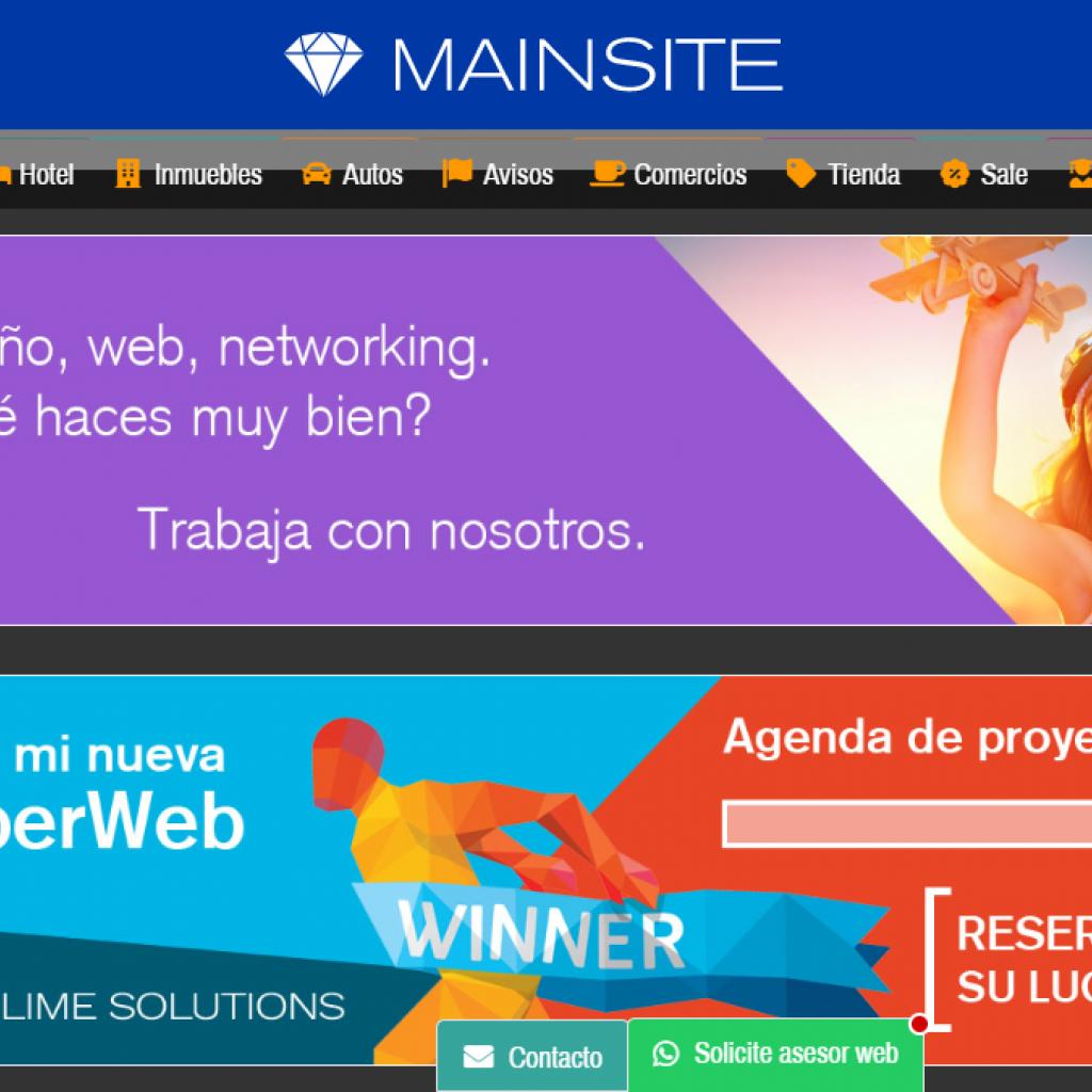 Otros ejemplos de banners en posición abajo del proyecto web.