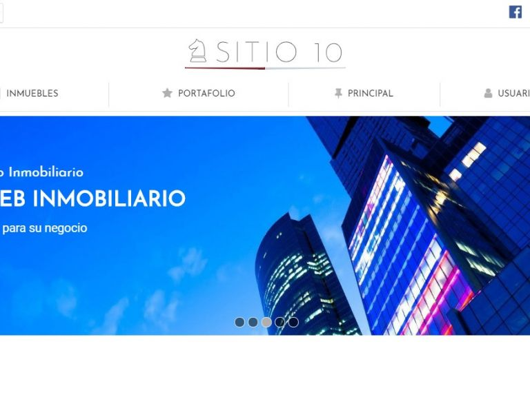 Demo de diseño web inmobiliario y software. - DEMO 10 . Sitio web inmobiliario